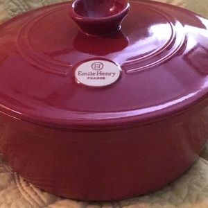 Large Emile Henry French Covered Dutch Oven